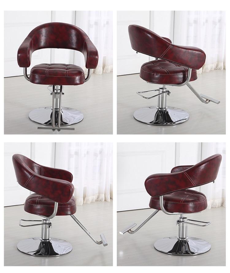 Penata rambut salon busana kursi tukang cukur. Bangku toko salon - Mebel - Foto 6