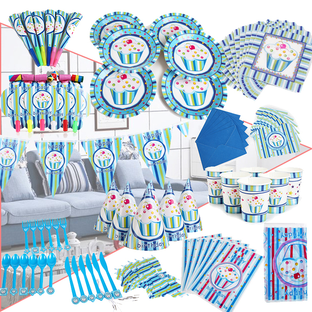 90PCS/lot Wholesale Good quality 1st Birthday Theme Party decorations Baby  Happy Birthday wedding event party supplies for kids-in Party DIY