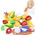 12 pçs/set pretend play clássicos da cozinha toys engraçado corte interativa saúde diy brinquedo das crianças dos miúdos menina favorita frutas legumes