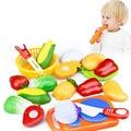 12 unids/set pretend play cocina clásica corte health interactive toys divertido diy toy niños niños chica favorita frutas verduras