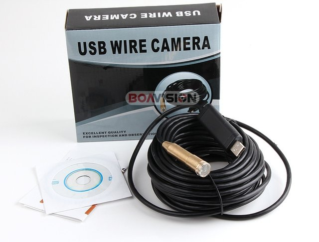 Online Shop 10M USB Cable Wire Tube USB Snake Camera Borescope ...