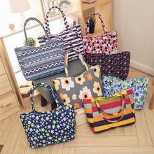 Floral Waterproof Shopping Handbags for Women