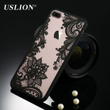 Sexy Retro Floral Phone Case For Apple iPhone 7 6 6s 5 5s SE Plus Lace Flower Hard PC+TPU Cases Back Cover Capa For iPhone7Plus