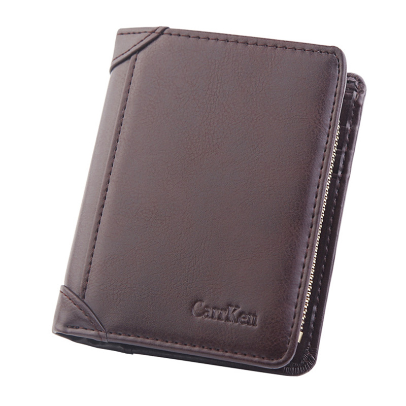 Small Wallet Coffee Waterproof Purse Card-Holder Coin-Bag Short Male Classic Men