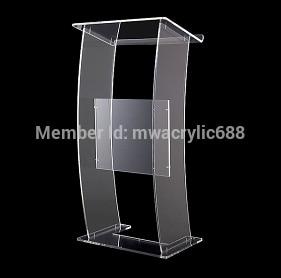 Free Shipping Modern Design Cheap Transparent Clear Acrylic Lectern Plexiglass