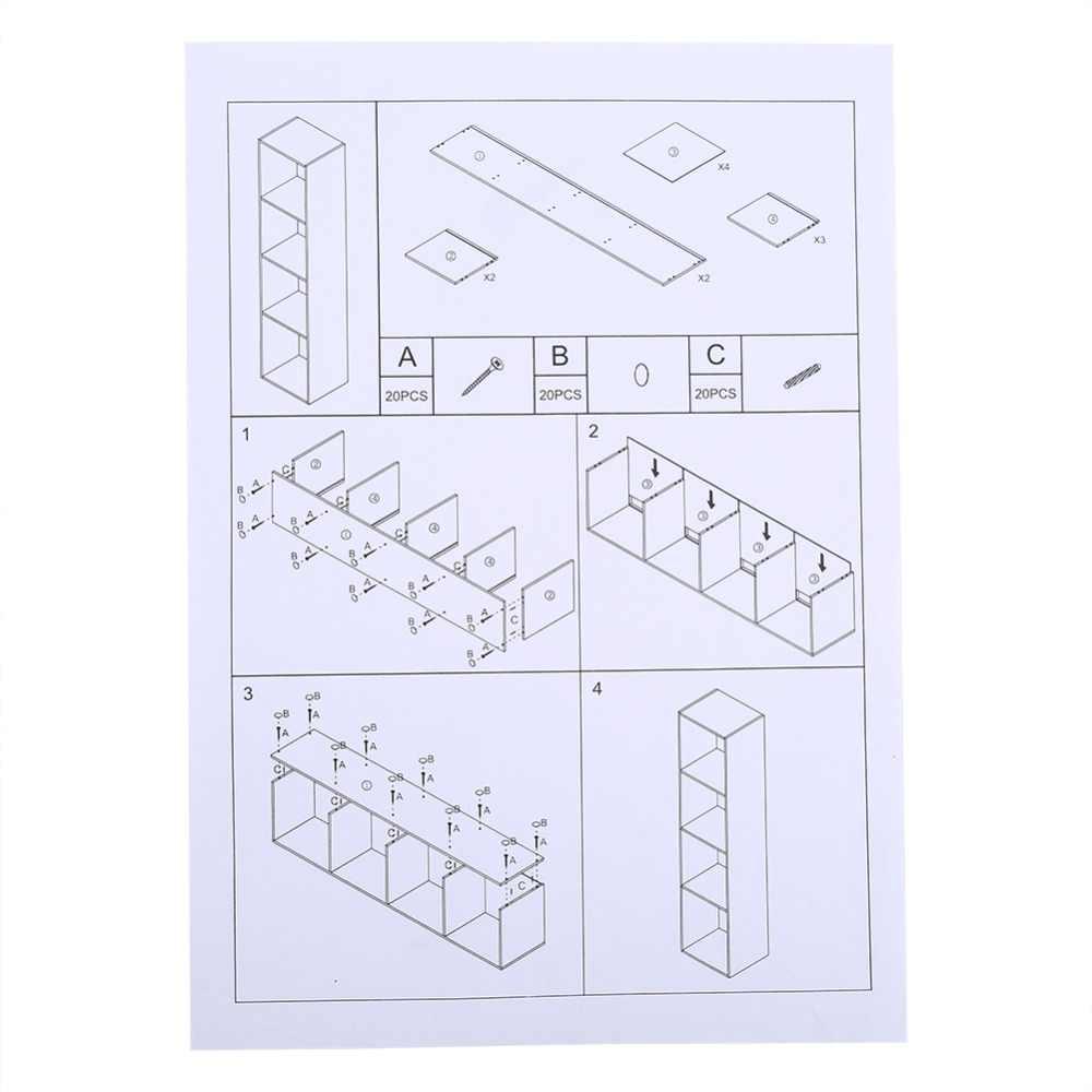 Ajustável 3/4 Prateleira Estante Estante De Armazenamento De Móveis de Madeira Prateleiras Livro 4 Cores para Escolher