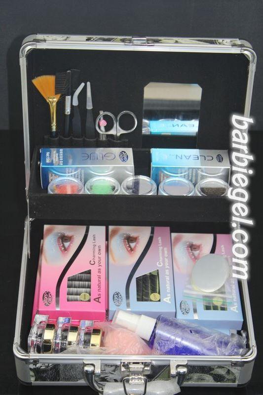 ФОТО New Professional High Quality False Extension Eyelash Glue Brush Kit Set with Box Case Salon Tool#4+