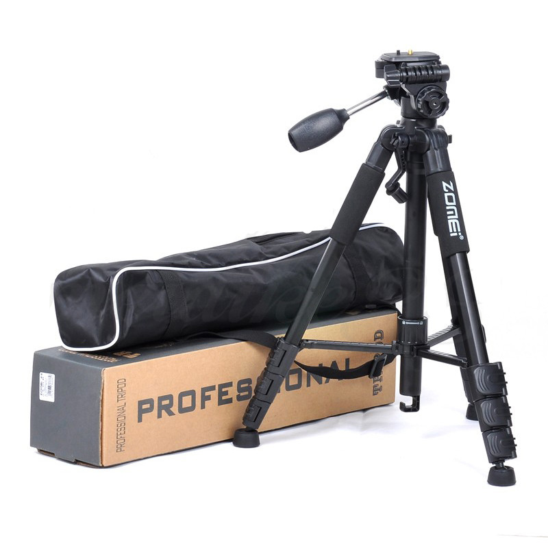 New-Zomei-Tripod-Z666-Professional-Portable-Travel-Aluminium-Camera-Tripod-Accessories-Stand-with-Pan-Head-for(2)