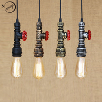 Loft Industrial Iron Water Pipe Vintage Pendant Lamp Cord E27 Antique Rust Lights For Personalized Bar