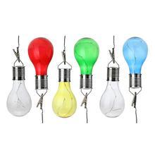 1 pcs outdoor garden solar light copper wire colorful led lights lamp bulb for christmas halloween festival decor