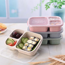 Limit 100 Hot Wheat Microwave Bento Lunch Box Picnic SuShi Fruit Food Container Storage Boxes Case Container Organizer