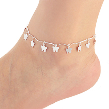 New Charm Anklets for Women Silver Plated butterfly chain Ankle For Women JL-030