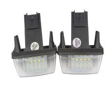 HEHEMM 2pcs 18 LED Car Automobile Led License Plate Light Lamp For Peugeot 206/207/406/407 Citroen C3/C4/C5