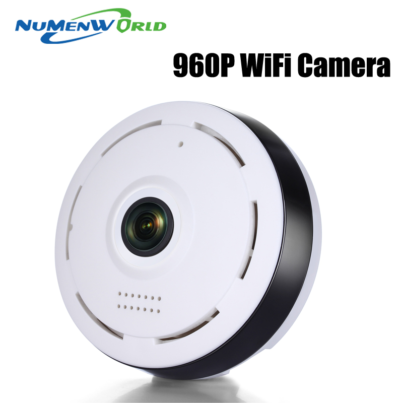 ФОТО 360 Degree network IP WIFI Wireless Camera 1.3MP 960P Panoramic Fisheye IP Camera Android IOS Phone Remote View Free Shipping