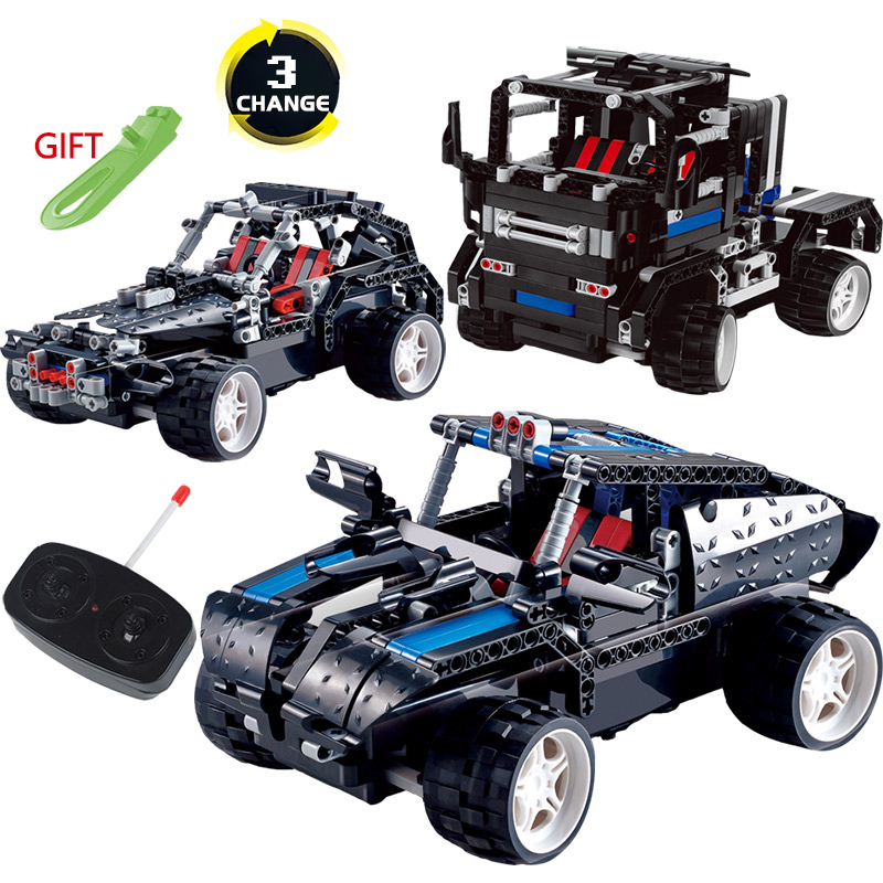 LegoINGlys Technic Vehicle Radio Remote Control Machine RC Car Blocks Transformtion Series Truck Offroad SUV DIY Toys For Kids 2 in 1 rc car compatible legoinglys radio technical vehicle green suv control blocks assembled blocks children toys gift