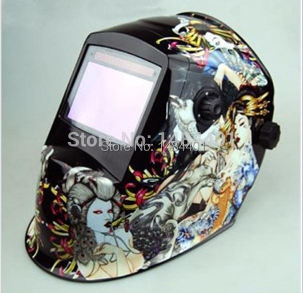ФОТО 15 years Only do the welding machine helmet Polished Chrome Arc Tig Mig Mask Grinding Face Welder Auto darkening free post