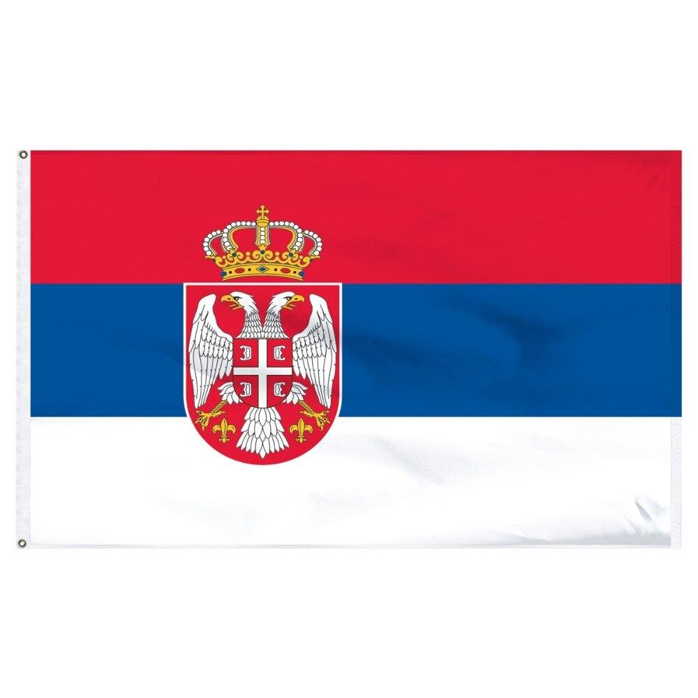 Johnin 90*150cm SRB RS Republika Srbija Serbia Flag For Decoration