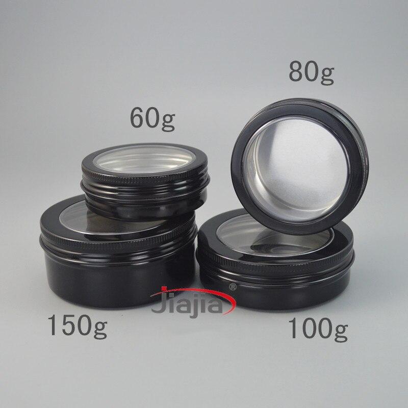 100g bijela aluminijska boca kozmetička krema jar 100ml prazan vosak - Alat za njegu kože - Foto 3