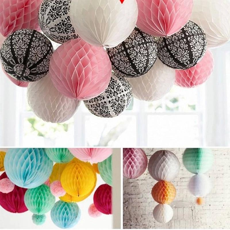 6''(10cm) Honeycomb ball paper lantern ball Christmas Wedding birthday party decoration ...
