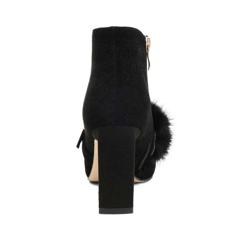 40 Éclair Femmes Bottines Marque Fermeture Dames Zvq 2018 Chaussons Mode Femme Color caramel Taille Talons Black Chaussures De Adorable Robe Noir Hauts Design Latérale 33 xUZ7xwq0F