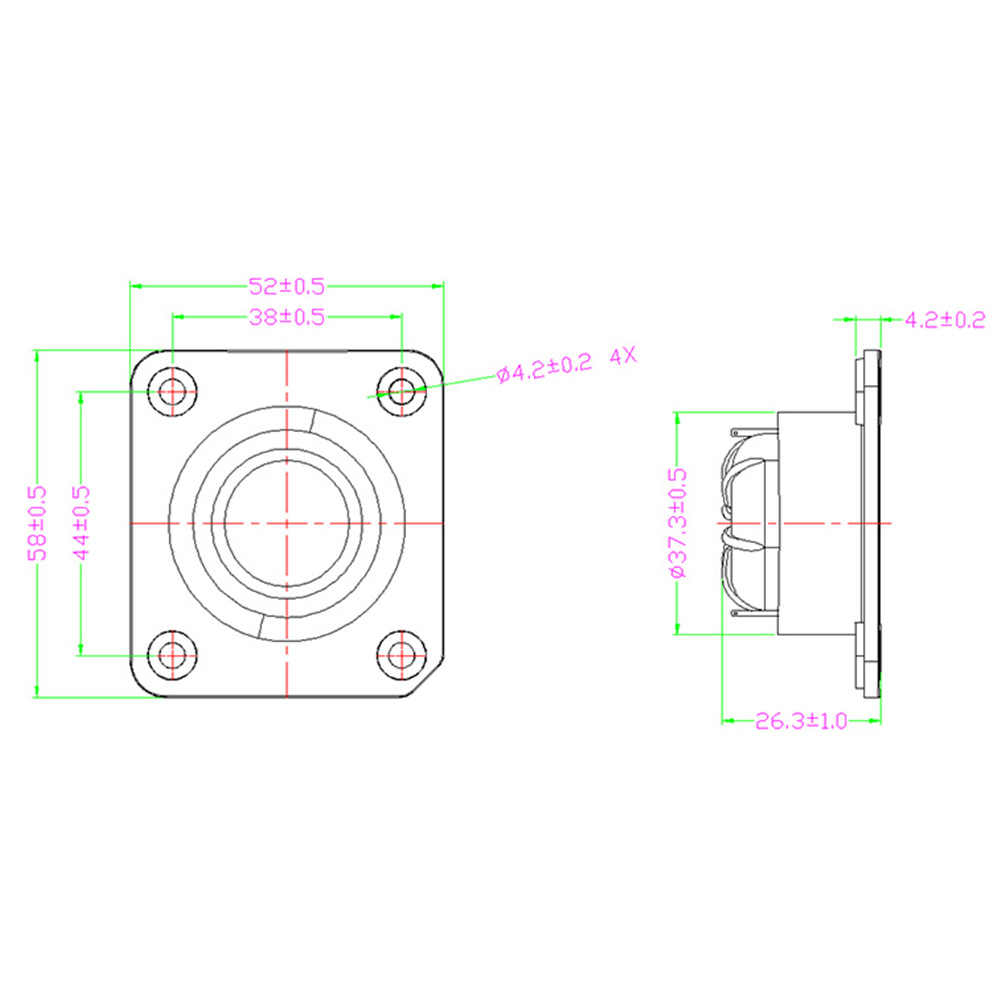 Tenghong 2 個ツイーター 8Ohm 5 ワットドーム絹フィルムツイーター 1 インチ 20 コアオーディオ高音スピーカー平方スピーカーホームシアター用 DIY