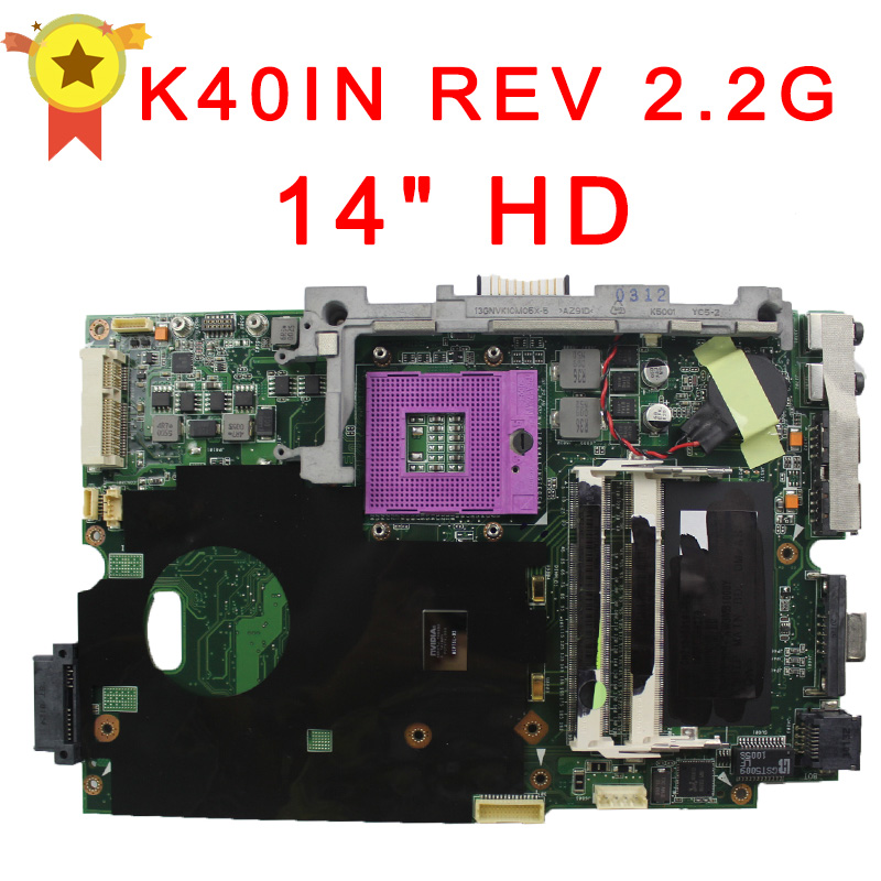 k40IN laptop motherboard for ASUS 100% tested with free shipping for asus t12m laptop motherboard mainboard sata 100% tested free shipping