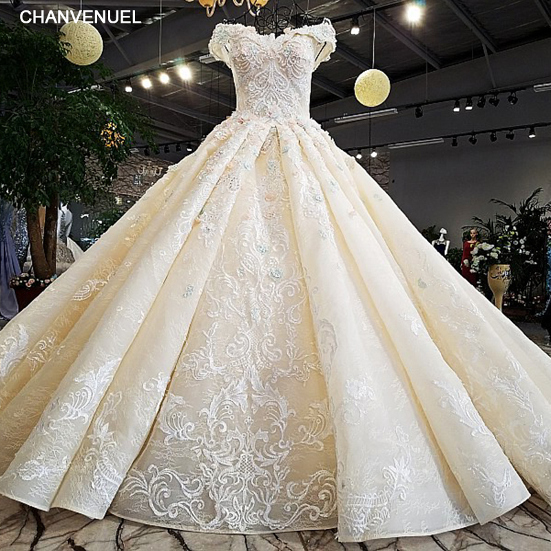 LS32412 as the picture off shoulder sweetheart ball gown lace up back hand work wedding dresses