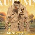 Lana Homme Manteau larga para hombre vestido de invierno abrigo de doble botonadura 3 colores para hombre escudo Plus tamaño 4XL / 5XL Uomo chaqueta