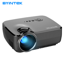 Проектор byintek GP70 2017 HD LED USB Video цифрового дома Театр Портативный HDMI USB ЖК-дисплей DLP фильм Пико привело мини проектор