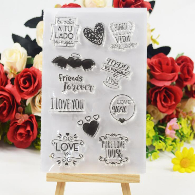 Love Angel Transparent Clear Stamp Album DIY Diary Silicone Stamp DIY Scrapbook Card Making Christmas Decoration Kids Crafts