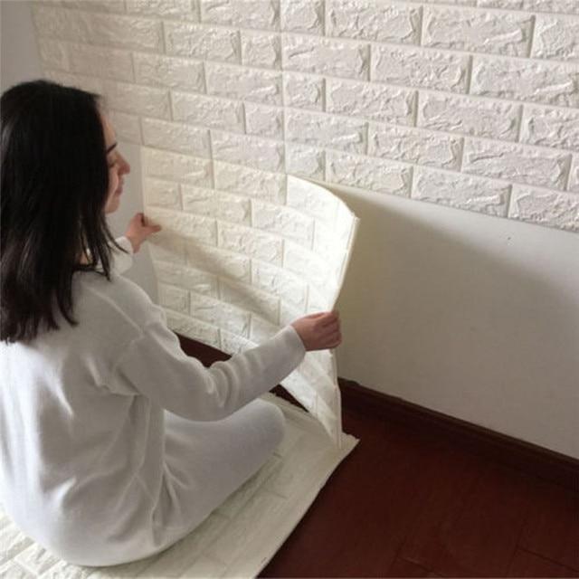 60x60 cm pe schaum natur wand aufkleber muster 3d wallpaper diy wand dekor ziegel - Natur Wand Im Wohnzimmer