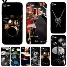 Yinuoda Musical Instrument Drum Lovely Excellent Phone Case for iPhone 7 X 6 6S 8 Plus 5 XS XR11 11pro 11promax