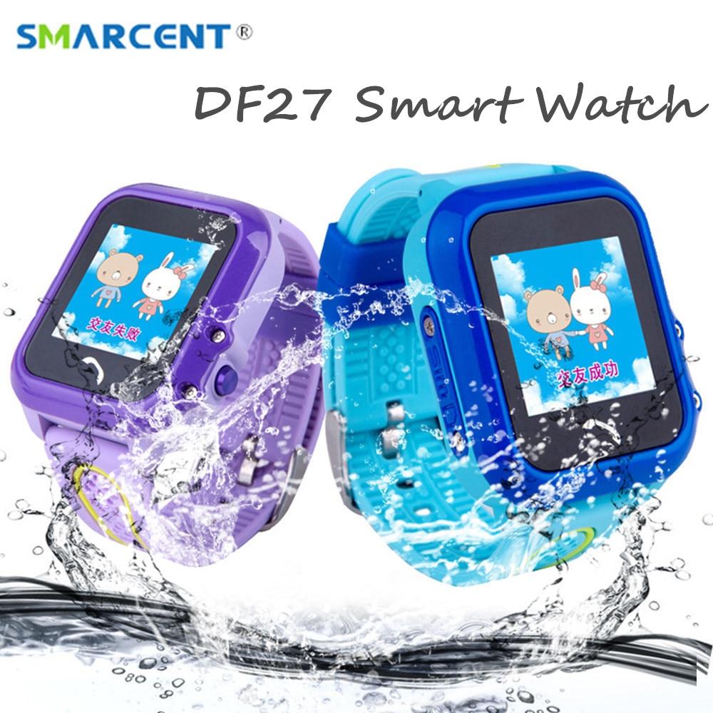 DF27 Kids GPS Smart Watch Swim Waterproof SOS Call Location Device Tracker Baby Safe Anti Lost