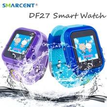 Дешевые DF27 дети gps Смарт-часы Плавание Водонепроницаемый SOS вызова расположение устройства Tracker Baby Safe анти-потерянный Smartwatch pk DF25 q50 q100 q90