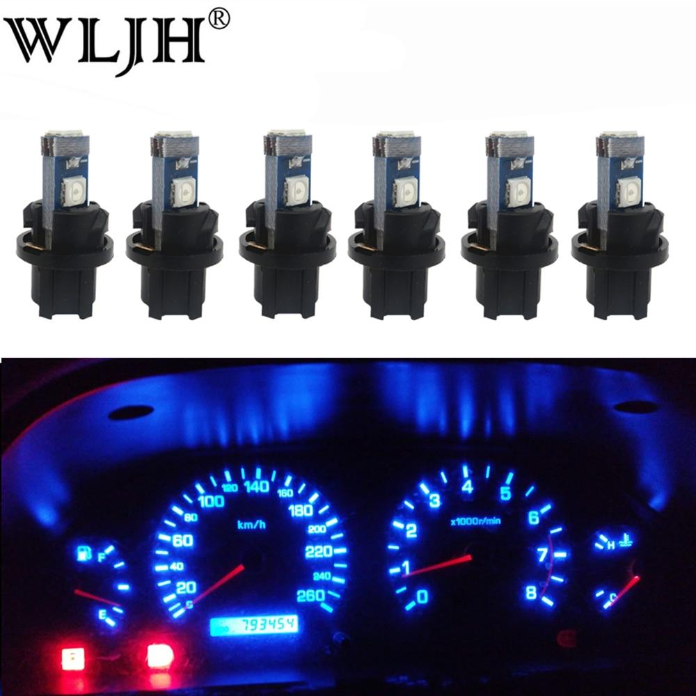 lampada de tomada para painel de carro wljh luz de led t5 pc74 para painel de