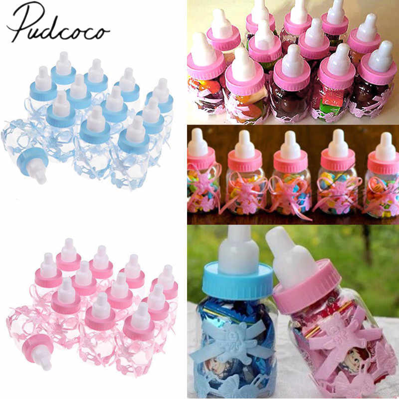 2018 Brand New 12 Bottiglia Compilabili Baby Shower Favori Decor Keepsake Bottiglia di Plastica Bottiglia di Latte Caldo Candy Can Baby Shower