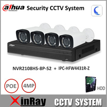 Dahua NVR Security CCTV Camera Kit NVR2108HS-8P-S2 Motorized Zoom Camera IPC-HFW4431R-Z P2P Surveillance System Easy install
