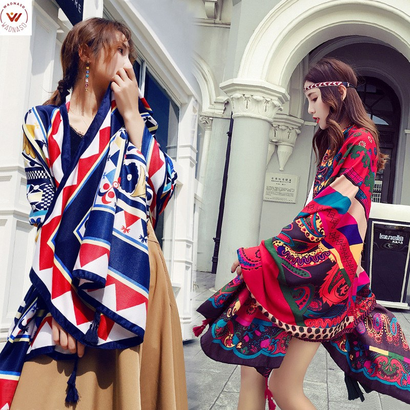 2019 Hijab Summer Cotton And Linen National Wind Travel Scarf Holiday Sunscreen Air Conditioning Large Shawl Female Beach Towel