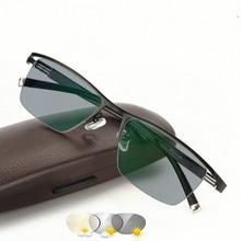 Affari degli uomini di Scolorimento Intelligente Occhiali Da Presbite Metallo Piastra in Lega di Occhiali Fotocromatiche Da Presbite Miopia Occhiali