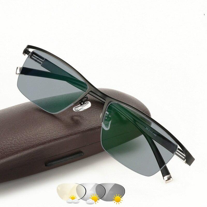 Mens Business Intelligent Discoloration Presbyopic Glasses Metal Alloy Plate Glasses Photochromic Presbyopic Myopia GlassesMens Eyewear Frames   -