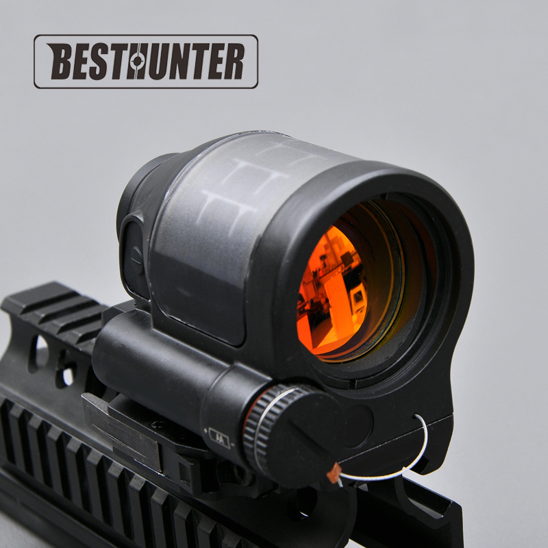 Tactical Hunting Reflex Sight Solar Power System Hunting SRS 1X38 Red Dot Sight Scope With QD Mount Optics Rifle Scope utg 4 2 ita red green cqb dot sight scope tactical with qd mount riser adaptor scp ds3840w hunting equipment