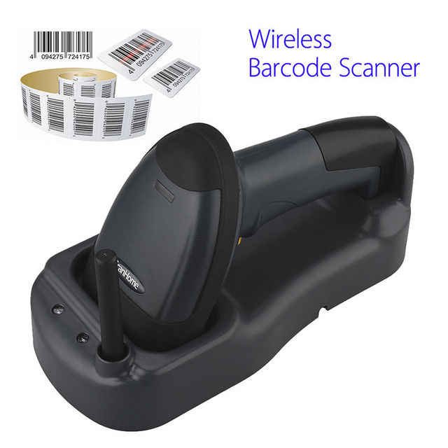Scanhome 433Mhz Wireless Barcode Scanner Portable Handheld Scan Bar Code Reader W/ Base Free shipping