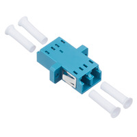 100pcs/lot LC LC Fiber Optic adaptor FTTH DX SM Duplex LC UPC Flange Connector,FTTH Fiber Optic Adapter