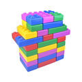 Jumbo Enorme Súper Bloques Gigante Grande Bloques de Construcción Para Niños Juguete Grande Blok Construcción Assemeble Diy Set 45 unids