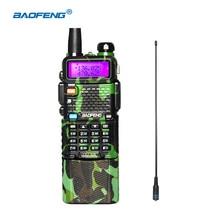 Baofeng uv 5R walkie talkie 3800 mAh batería de gran alcance radios de dos vías para la montaña caza VHF UHF radios de bosque con NA771natenna