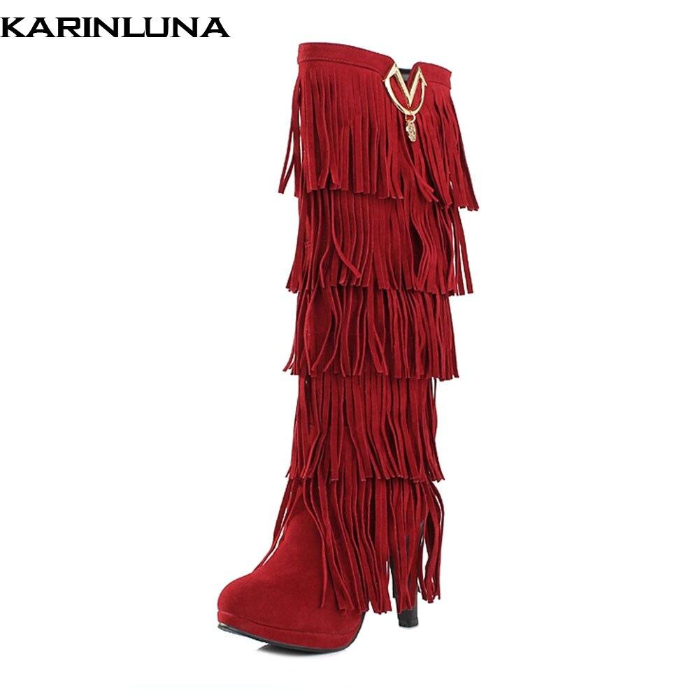 2a5817da08fa1 Karinluna Taille Chaudes Dropship rouge Nouveautés Peluche Bottes D hiver  brown marron beige black yellow ...