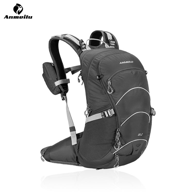 ANMEILU 20L Bicycle Backpack, Women Men Hiking Cycling Backpack, Outdoor Climbing Sport Bag With Rain Cover 4 Colors anmeilu 18l waterproof bicycle backpack cycling bike sport bag outdoor camping hiking climbing bag with rain cover no water bag