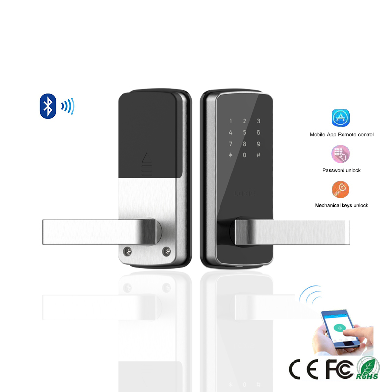 Furniture Keyless Keypad Door lock Bluetooth APP Smart Digital Password Electronic Door Lock For Home Gate lock Airbnb apartment reversible silver smart digital electronic keypad lock keyless door lock with single latch for commercial buildings villas