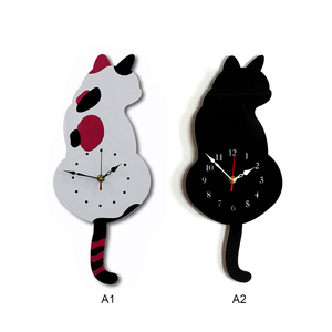 Wall Decoration Wagging Tail Cat Design Wall Clock For DropShipping(China)