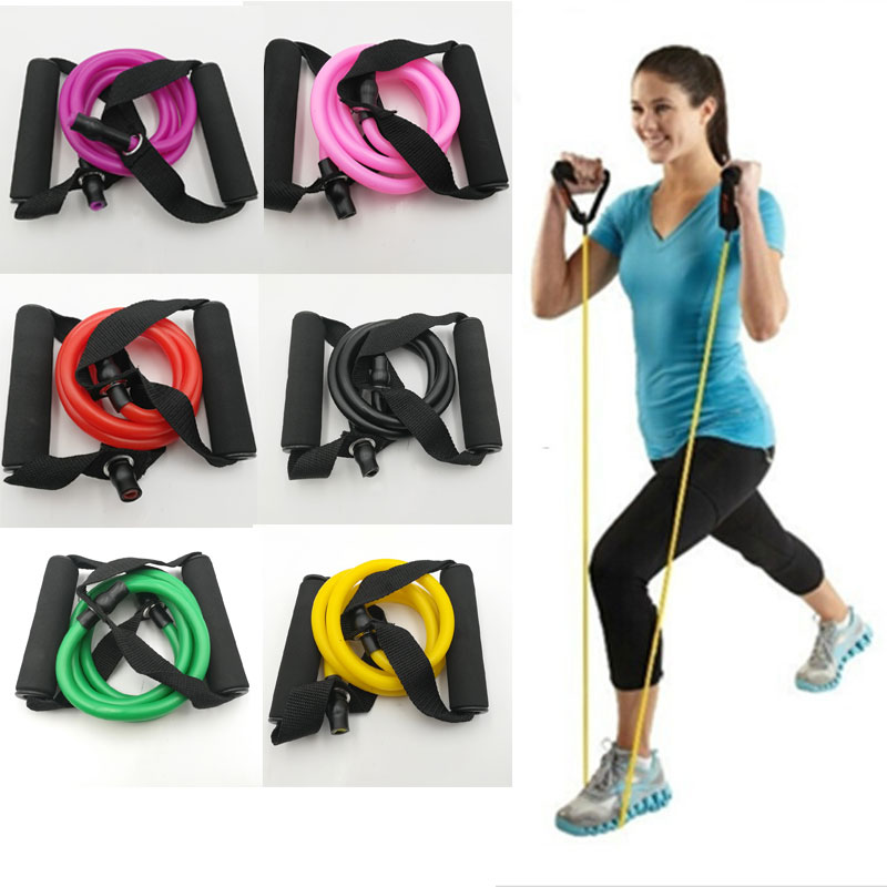 120cm Elastic Resistance Bands Yoga Pull Rope Fitness Workout Sports Bands Rubbe